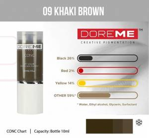 Pigment Doreme 09 Khaki Brown 15ml