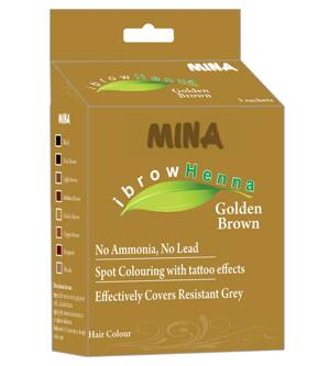 MINA ibrow Henna - Golden Brown - Zlatá hnedá